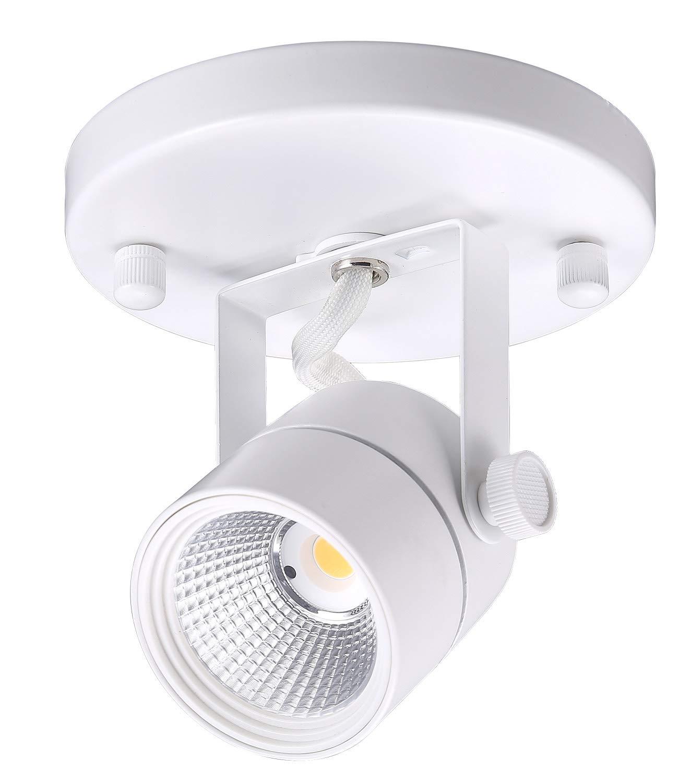 Cloudy bay led flush mount ceiling spot lightcri90 3000k warm white dimmableadjustable tilt angle ceiling light fixturewhite finish