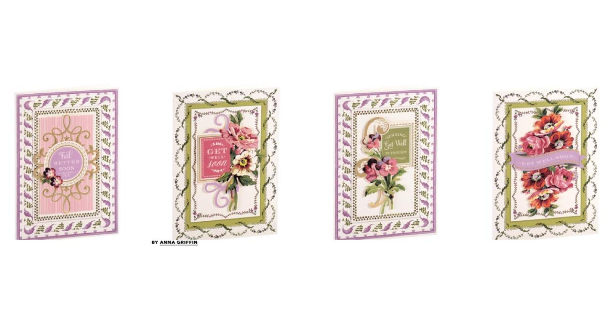 Anna Griffin   Get Well Painted Cardmaking Kit   Makes 4 Cards   SB719