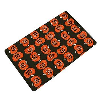 halloween pumpkin skull matslovewe halloween home non slip door floor matshall rugs