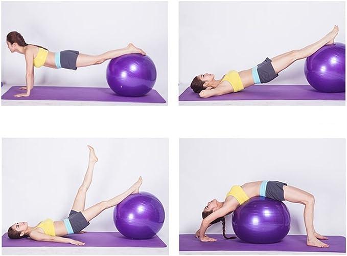 HCJYJQ GUORONG Bola de Yoga, Bola de Gimnasio Suave Espesar Bola ...