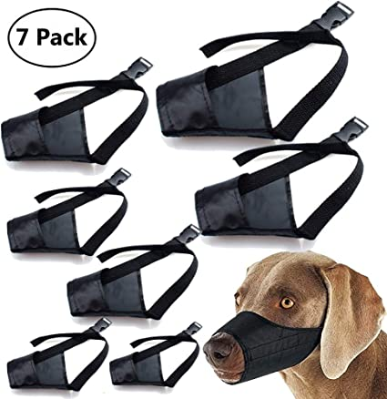 5x Adjustable Dog Mouth Cover Anti-Biting Barking Muzzles for Small Medium Large