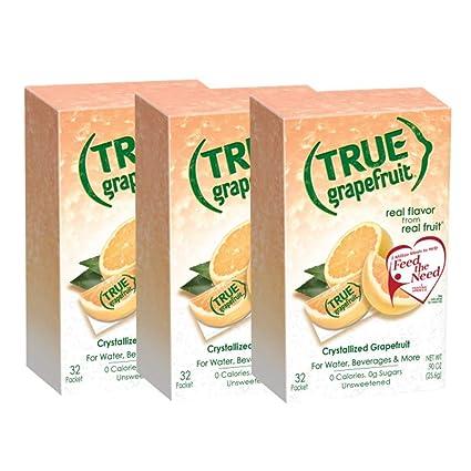 True Citrus True - Juego de 32 paquetes de pomelo ...