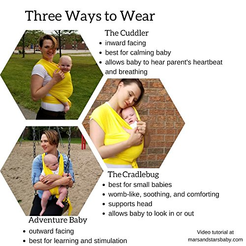 The Breezy Wrap | Quick-dry cotton mesh baby-carrier | cool, breezy, sweat-free adventures | Mars&Stars baby (silver)