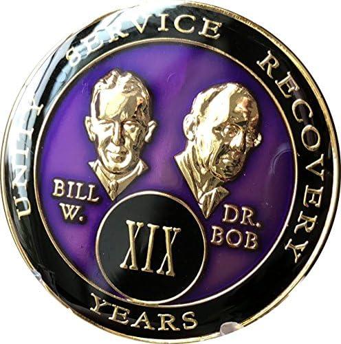 19年AA Medallionパープルtri-plate Founders Bill &ボブ・チップXIX