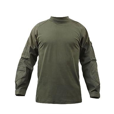 Amazon.com  Military Olive Drab Combat Shirt Lightweight Tactical ... 60e4c8c4de8