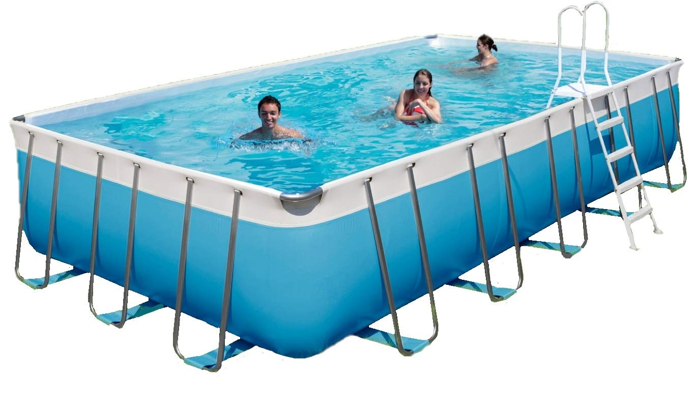 Piscina rectangular Kit Garda 550/H 132: Amazon.es: Jardín