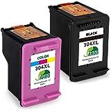 JARBO Remanufactured HP 304XL 304 Druckerpatronen Schwarz/Tri-Farbe 2er-Pack für HP DeskJet 3720 3730 3732 3735 2620 2630 HP ENVY 5020