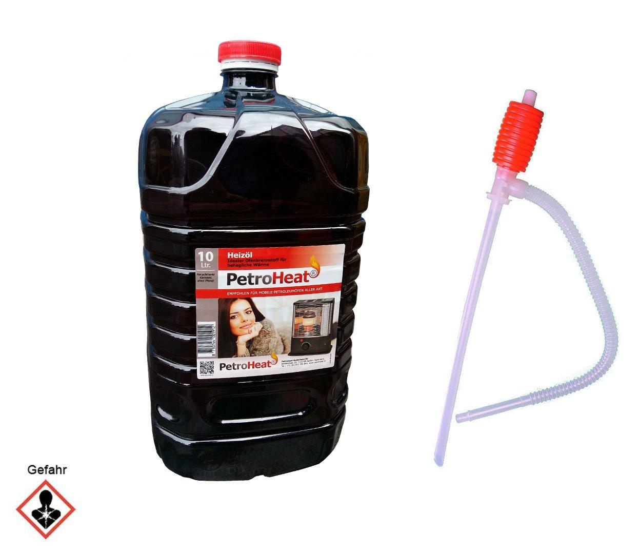 Petroleum 10 L Liter Kanister inkl. Handpumpe Brennstoffpumpe für Petroleumofen Heizofen geruchsarm 20 CAGO