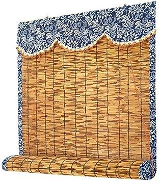 Bamboo Curtain Cortinas De Láminas Persianas Venecianas Cortinas De Paja con Bordes Rectos Persianas Enrollables Muro Cortina Decorativa para Techo,Personalizable: Amazon.es: Hogar