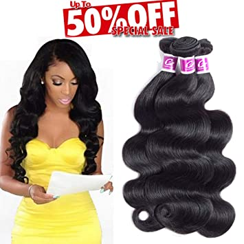 Colorful Queen 8A Brazilian Virgin Hair Body Wave 3 Bundles (12 14 16 Total  300g 64074cdfdb