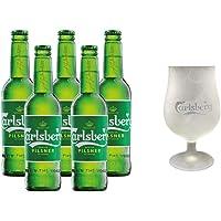 5 Pack Cervezas Danesas Carlsberg de 330 ml + Copa