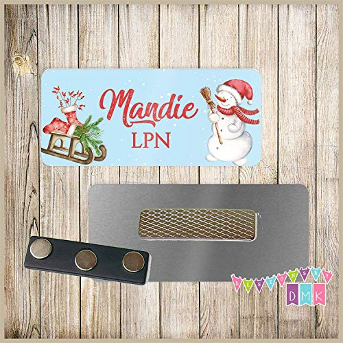 Fiberglass Snowman - Snowman with Sled - PERSONALIZED - Custom Name Tag - 1.25