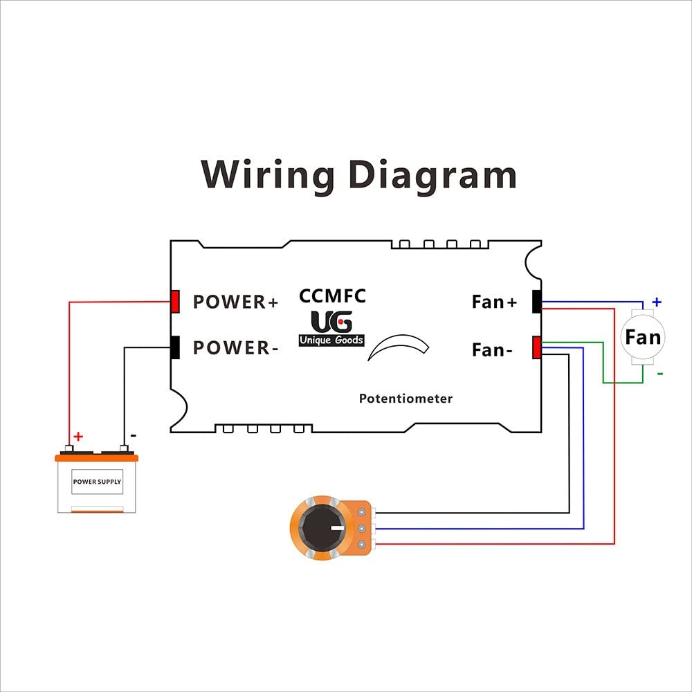 adjustable electric fan wiring diagram uniquegoods ccmfc 12v 2a dc motor speed controller adjustable  uniquegoods ccmfc 12v 2a dc motor speed