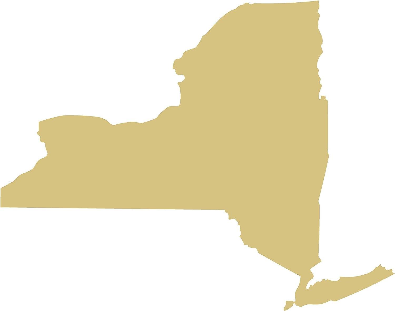 New York State Cutout Unfinished Wood Big Apple Gotham NY Empire World Trade Center MDF Shape Canvas Style 1 (22