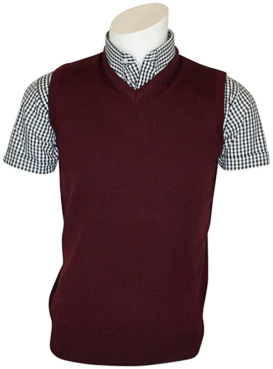 Peaky Blinders & Boardwalk Empire: Men's 1920s Gangster Clothing Relco Mens Classic Burgundy Mod Skinhead Northern Soul Tank Top £22.99 AT vintagedancer.com