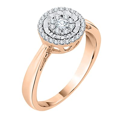 e265fc183dd KATARINA Prong Set Diamond Cluster Engagement Ring in 14K Gold (1 4 cttw
