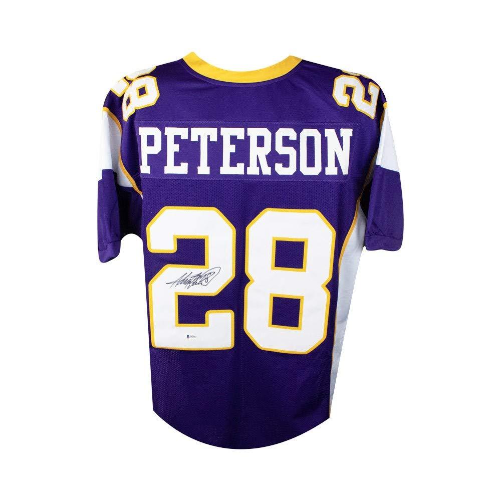 Adrian Peterson Autographed Minnesota Vikings Custom Football ...