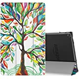 MoKo Case for All-New Amazon Fire HD 10 Tablet (7th Generation, 2017 Release) - Smart Shell Stand Cover with Auto Wake / Sleep & Translucent Frosted Back for Fire HD 10.1 Inch Tablet, Lucky TREE
