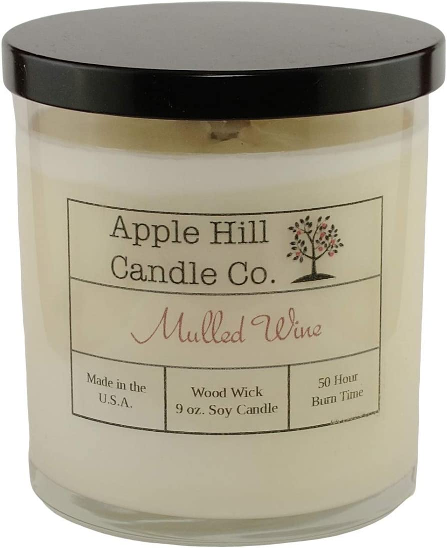 Apple Hill Candle Company Natural Soy Candle - Wood Wick (Mulled Wine)