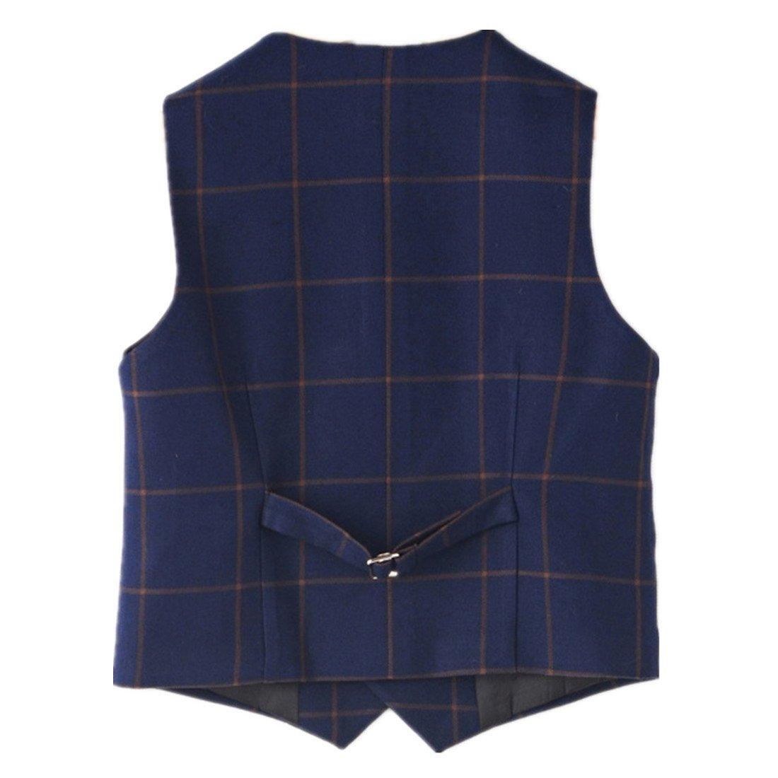 Motteecity Little Boys Vest Gentle Buttons Plaid