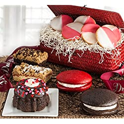 Valentines Day or Special Occasion, Perfect Gift ~ Say I Love You with This Dulcet Basket Filled with Bakery Pastries