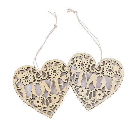 10pcs wooden laser cut mdf hollow love hearts shapes embellishments