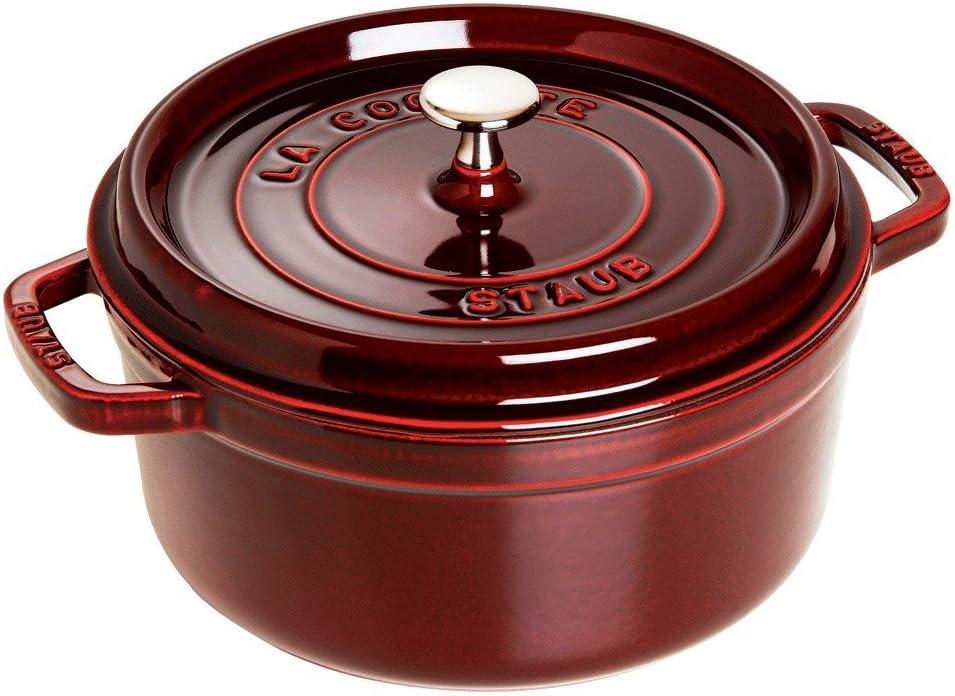 Dust Cocotte Roaster 26 cm grenadinerot Round Cast Iron Saucepan Frying Pan 5,2l