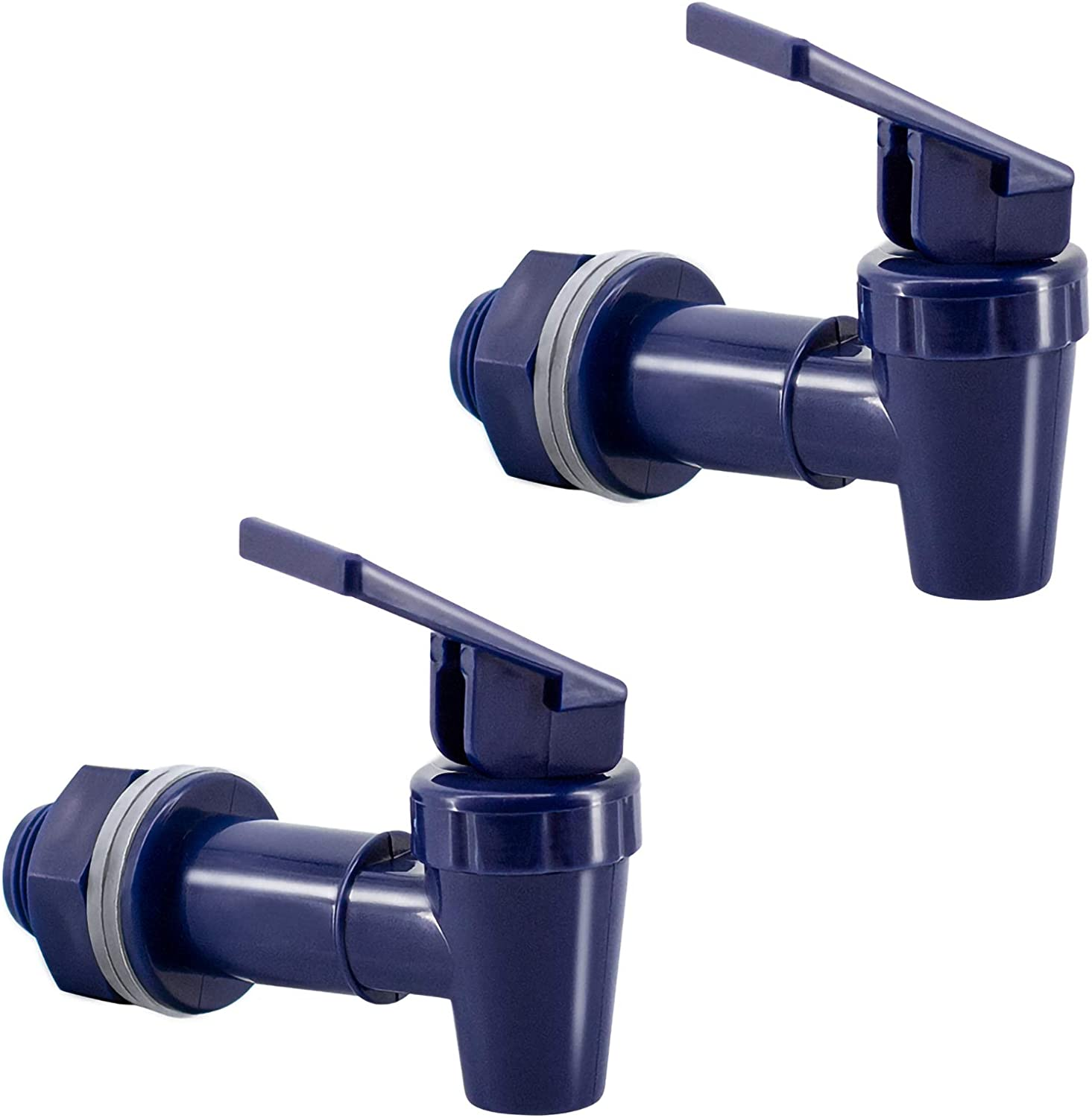 hgzaccompany BPA-free replacement faucet for cooler, replacement spigot for cooler, plastic spigot for water dispenser. (2, blue)