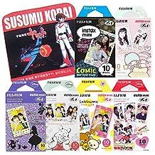 Fujifilm Instax Mini Instant Film Alice Wonderland & Disney Mickey & Winnie Pooh & Rilakkuma & Little Twin stars & Comic 10 Sheets X 6 Assorted Films Value Set with Star Blazers 2199 premium towel Kodai