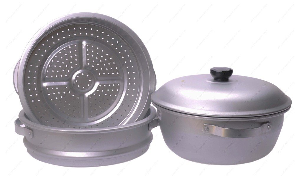 16 inch 3-Tier Aluminum Steamer by Wok Shop by Wok Shop (Image #3)