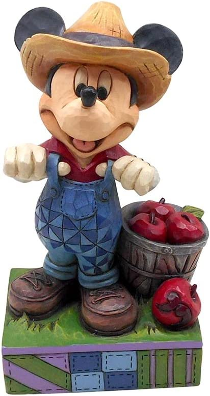 Enesco 4049635 Disney Traditions Farmer Mickey Figurine
