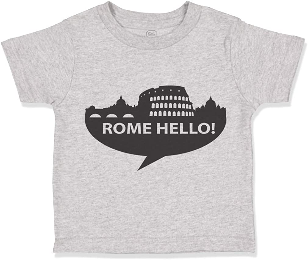 Custom Toddler T-Shirt Rome Hello Valentines Love Cotton Boy /& Girl Clothes