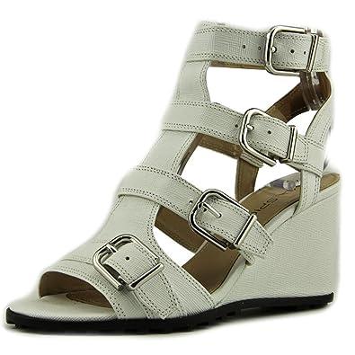 Via Spiga Womens Luxie Wedge Sandal White Size 50