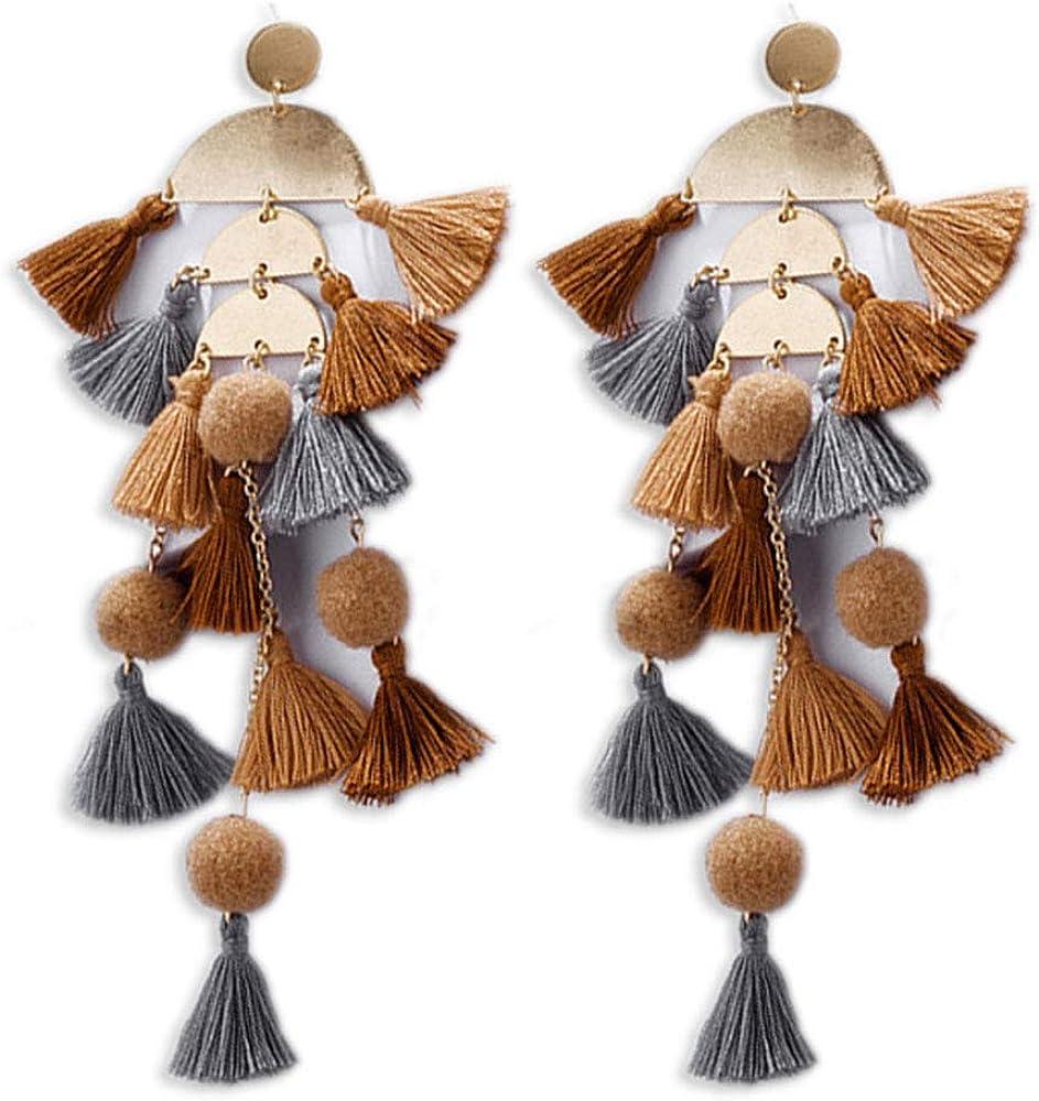 Long Tassel Earrings Boho...