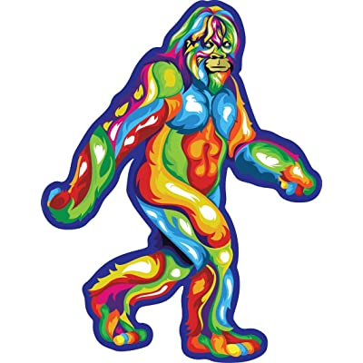 Bigfoot Sticker | Multi Colorful Die-Cut Label | Folklore Creature Legend | I Believe Hunting Searching for Sasquatch Yeti | Use on Water Bottle Decal for Sign Toy Book Sock T-Shirt Earring Art: Arts, Crafts & Sewing