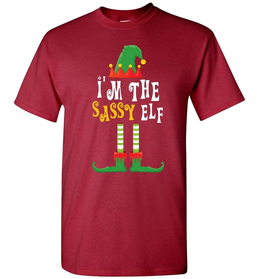 Im The Sassy Elf Matching Family Group Christmas T-Shirt