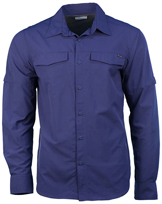 a8d4ec8c1da Columbia Men's Kestrel Trail Long Sleeve Shirt-Navy-Medium: Amazon ...
