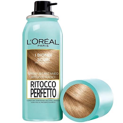 221 opinioni per L'Oréal Paris Ritocco Perfetto Spray Istantaneo Ritocco Radici, 4 Biondo Scuro