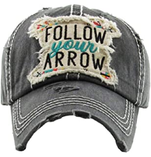 2fe97123953e7 KB Adjustable Follow Your Arrow Aztec Chevron Western Distressed Vintage Cap  Hat Jp