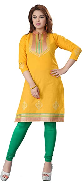 242927f3e0c6b Maple Clothing Indian Cotton Tunics Blouse Womens India Apparel (Yellow