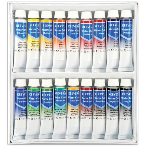 (Reeves Assorted 12-Milliliter Watercolor Paint, 18-Pack (8493251))