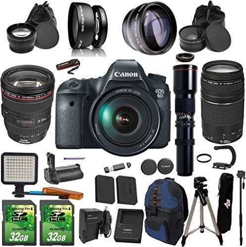 Canon EOS 6D + 24-105mm f/4L IS USM + 75-300mm + Preset 500m