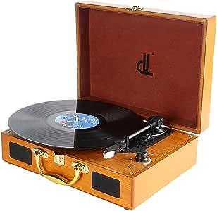 Tocadiscos dl Record Player con 3 velocidades 33/45/78 Vinyl ...