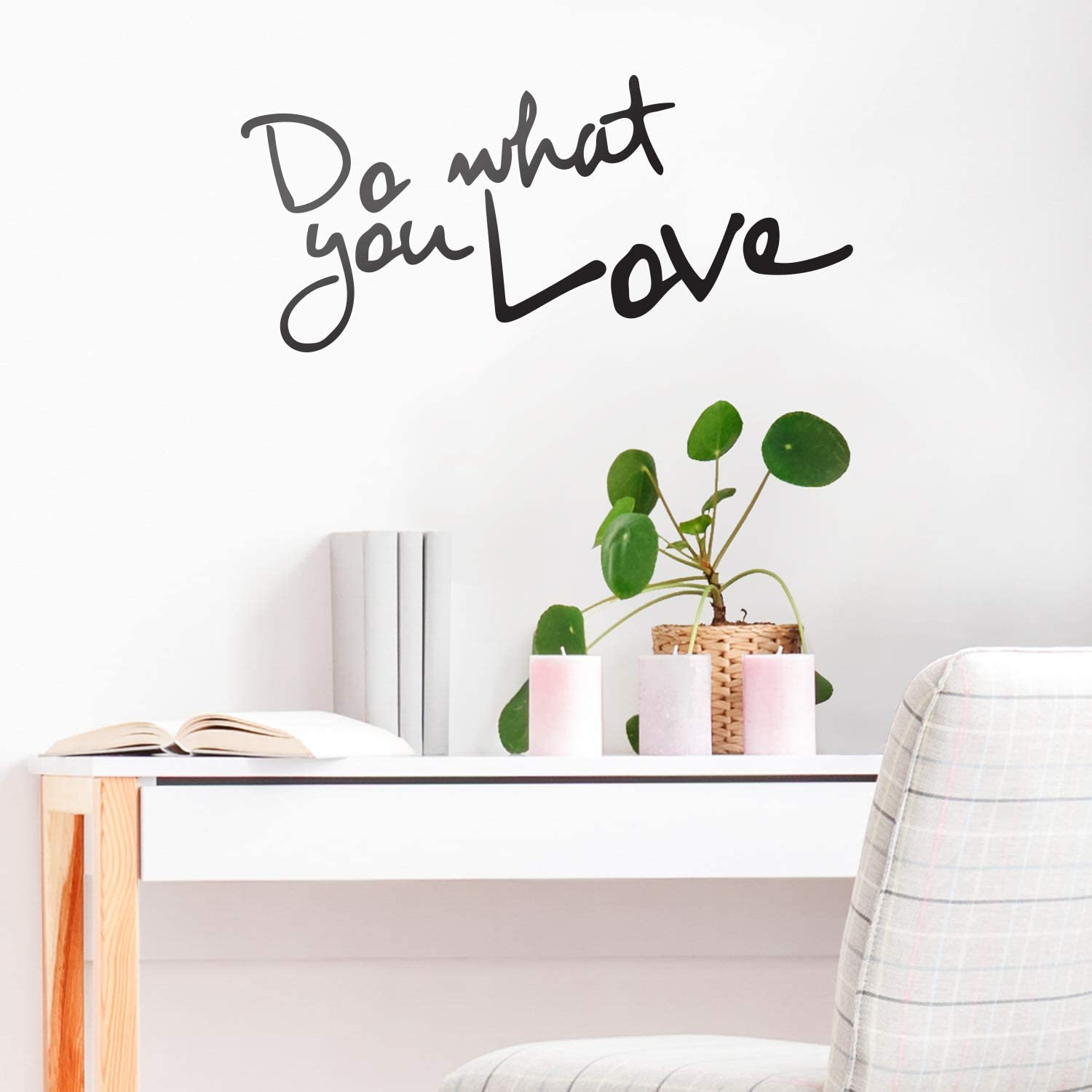 Amazon Com Do What You Love Inspirational Life Quotes Wall Art Decal 30 X 14 Decoration Vinyl Sticker Bedroom Living Room Wall Decor Apartment Wall Decoration Peel Off