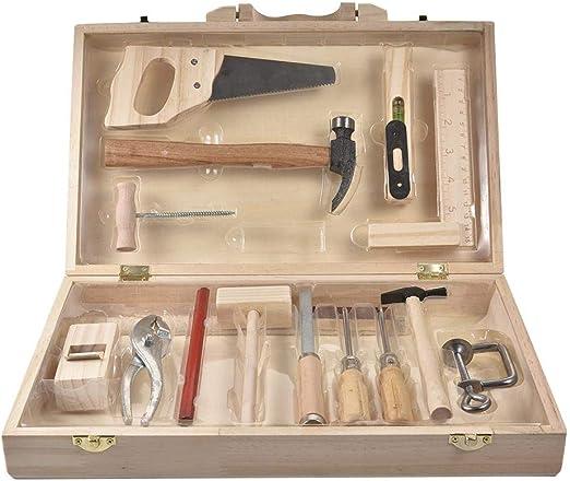 Caja de herramientas de reparación Construcción de juguetes Kit de herramientas de madera multifuncional para trabajar la madera Caja de herramientas de reparación Juguete educativo para niños Juego: Amazon.es: Hogar