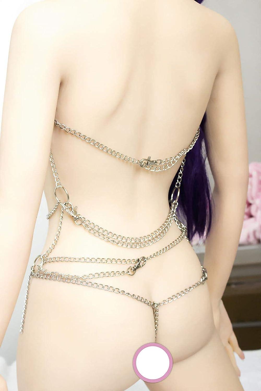 Juguetes plata sexuales, esclavitud, cadena de plata Juguetes alternada reina femenina 7279af