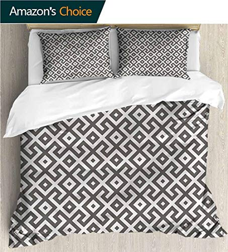 carmaxs-home Bedding Sets Duvet Cover Set,Box Stitched,Soft,Breathable,Hypoallergenic,Fade Resistant Bedding Set for Kids,Boys and Teens-Modern Geometric Antique Border (87
