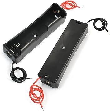 2 piezas 3,7 V caja soporte de batería para pilas 1 x 18650: Amazon.es: Bricolaje y herramientas
