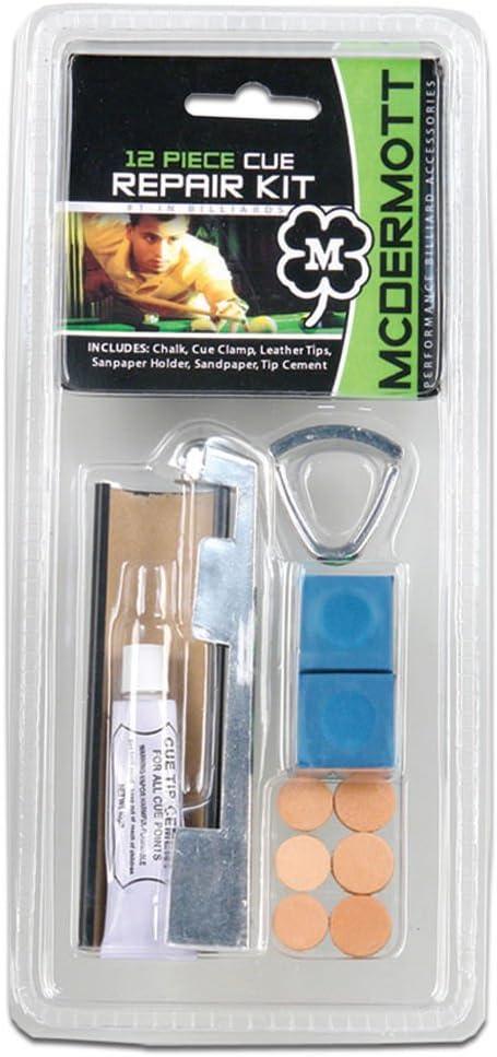 12 piezas McDermott marca mesa de billar billar cue stick kit de reparación de punta: Amazon.es: Deportes y aire libre