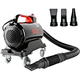 SGCB PRO Car Air Dryer Blower, 5.0HP Powered Double Mode Temp High Velocity Car Dryer Air Cannon Detail Blower w/Caster Base & 10 Ft Flexible Hose & 3 Air Jet Nozzles for Car Wash Water Drying